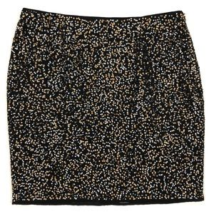 Halogen Skirts - Halogen black and metallic sequin mini skirt